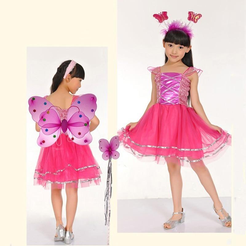 Gyerekek Halloween jelmez pillangó tündér szoknya színes tánc - Jelmezek - Fénykép 4