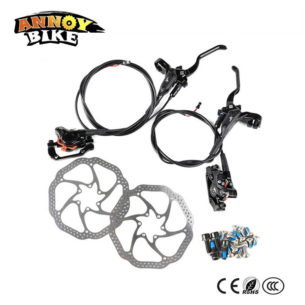 160MM Electric Bike Hydraulic Brake disc Set Front and Rear 160mm disc oil brake With Lever and Clip For MTB Road Bicycle shimano slx bl m7000 m675 hydraulic disc brake lever left right brake caliper mtb bicycle parts