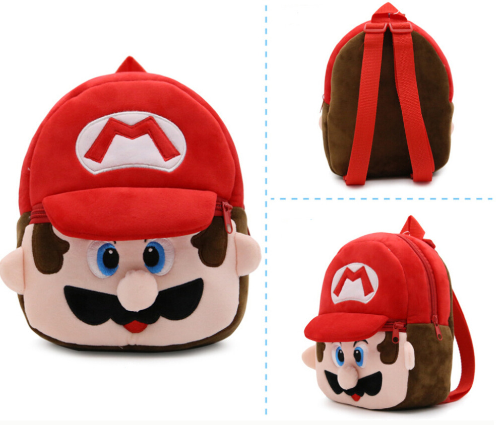 2018 Rushed Mochila Escolar Cute Mario Baby Plush Bag Kids 3d Schoolbags Anime Pattern 9 Zipper Backpack Travel Gift For Child