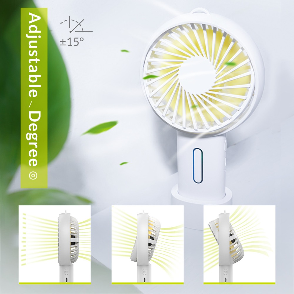 ORICO USB Fan Cooler Adajustable Handheld Mini USB Air Cooling Fan Portable Desktop Office Fan Dual Use Home Student Dormitory in USB Gadgets from Computer Office