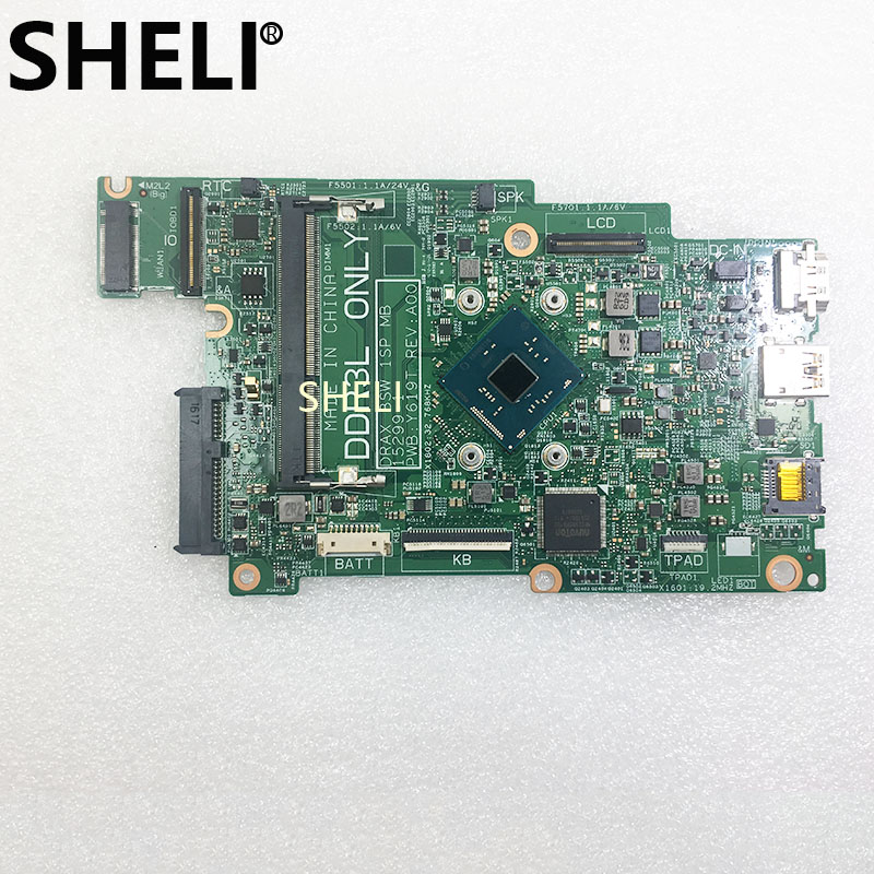 SHELI  FOR DELL Inspiron 11 (3168) Laptop Motherboard W/ N3710 CPU CN-0J71V9 0J71V9 J71V9 DDR3L Test Ok
