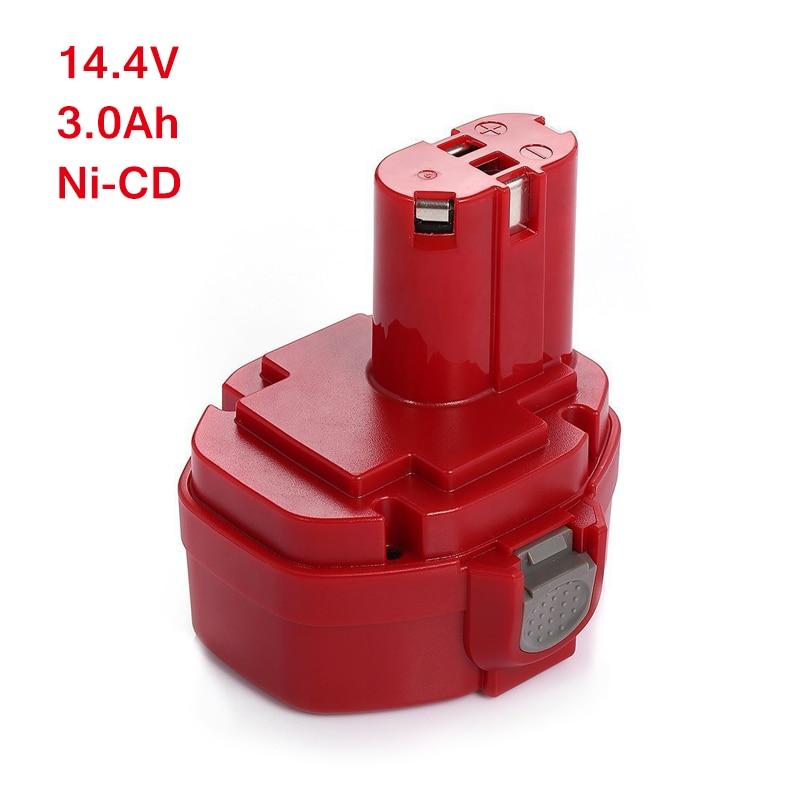 Désert batterie Rechargeable 14.4 v 3000 mAh pour Makita 1420 1422 1433 1434 1435 1435F Makita 4000 et 6000 Série 192 699 193157-5