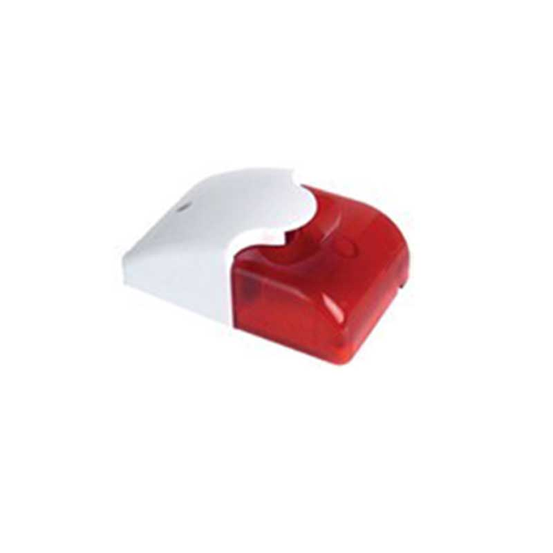 Wired Strobe Siren 9VDC Sound Alarm Flashing Red Light Wired Siren Home Security Alarm System Output Device 110DB SR-02