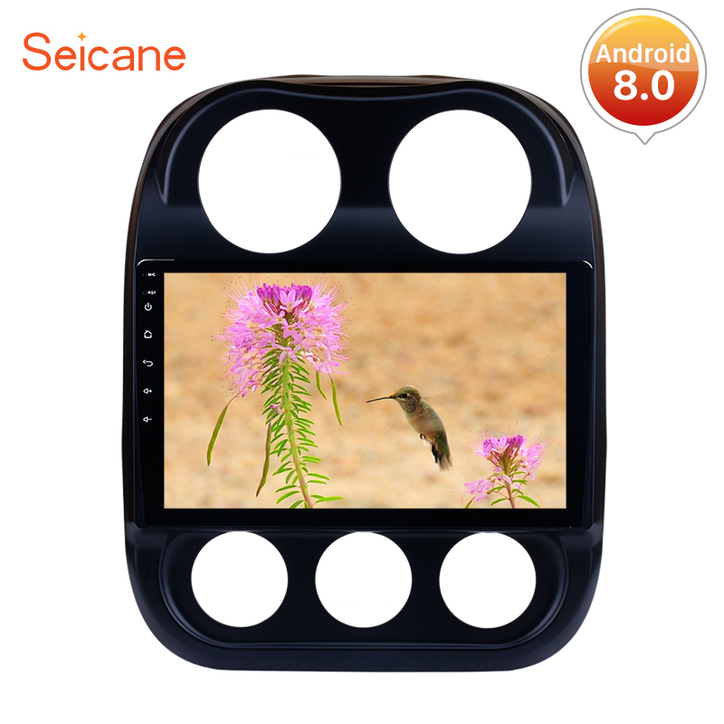 Seicane 10.1 inch Android 8.0 Car Radio Bluetooth Wifi 4G GPS Navigation Player For <font><b>2014</b></font> 2015 <font><b>Jeep</b></font> <font><b>Compass</b></font> With RAM 4G ROM 32G image