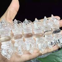 1 piece Natural Clear Quartz Crystal Stone Rock Carved vajra Healing Top Energy F603