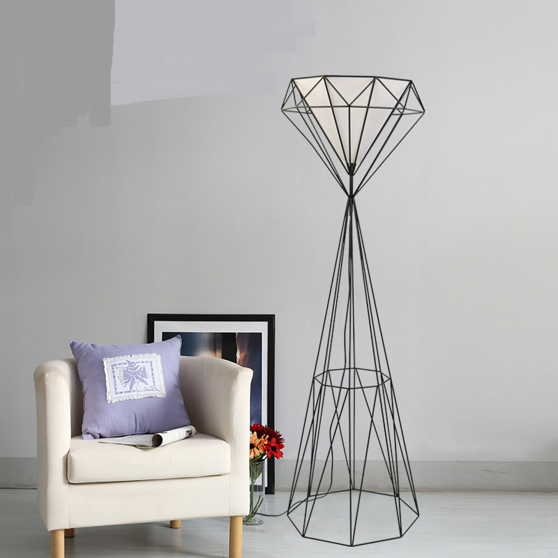 modern iron floor lamps living room bedroom bedside lamp creative design retro wrought iron vertical floor lights za GY236 chinese cloth floor lamps modern living room bedroom bedside lamp study hotel white decorations lighting floor lights za