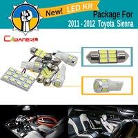 Cawanerl 12 Cái Xe Nội Thất LED Bản Đồ Dome Courtesy Ánh Sáng Hàng trắng 5630 SMD LED Trọn Gói Kit Đối Với Toyota Sienna 2011 2012