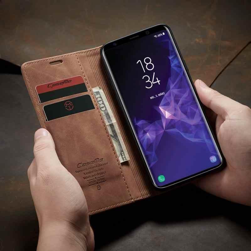 Флип-кейс из искусственной кожи для samsung Galaxy S10 Plus S10E 5G S8 S9 Plus S7 Edge чехол для телефона высококачественный магнитный складной чехол