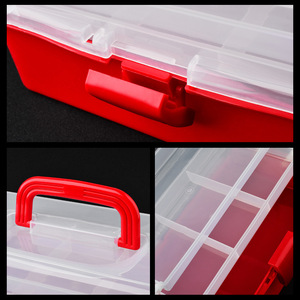 Image 5 - El düzenlenen Masaüstü Nail Art Boş saklama kutusu Plastik Makas Makyaj Organizatör Takı Oje Konteyner Manikür Alet Çantası