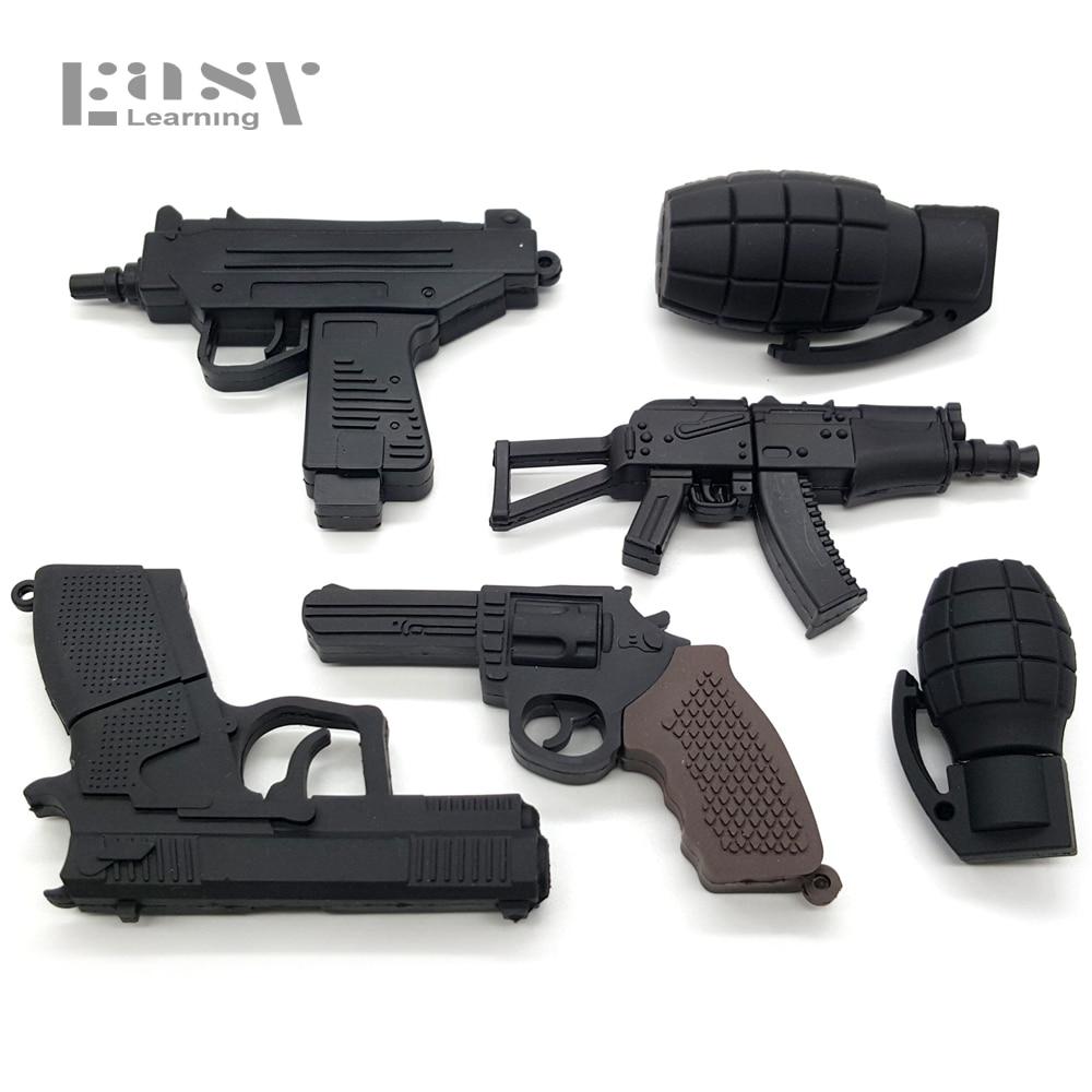 Boys Gift Cool AK47 Gun Shape Submachine Gun 4GB Roscoe Gun 8G 16G 32G Usb 2.0 Creative Usb Flash Drive Memory Stick