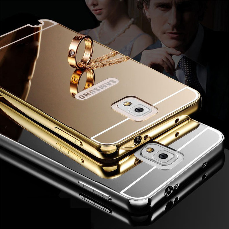 For Galaxy Note 3 Case Mirror Plating Aluminum Metal Bumper Acrylic Back Cover For Samsung Galaxy Note 3 Case Phone Cases