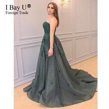 2017 Green Evening Dresses A Line Dubai Sweetheart Ruffle Dress African Formal Dress For Wedding Women Special Occasion Dress