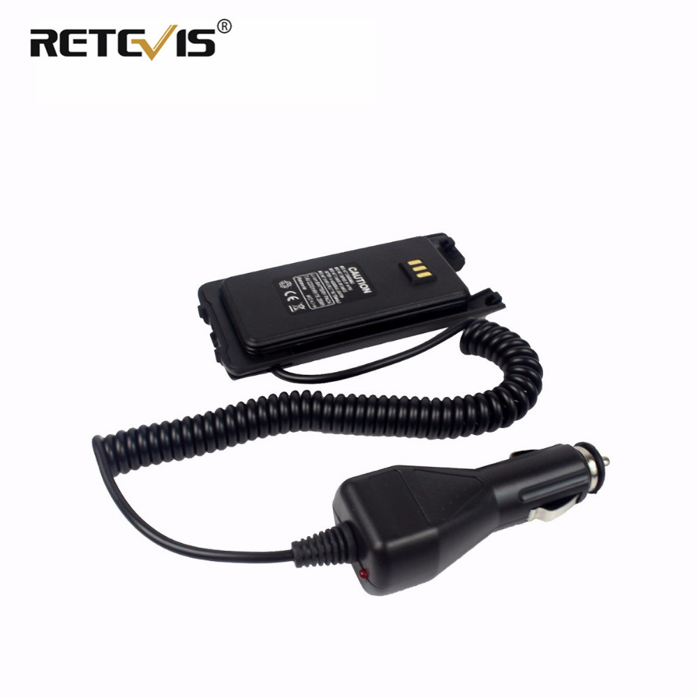 100% New Car Charger Battery Eliminator Input 12-24V For Retevis RT8/RT81 For TYT MD-390 MD-390 DMR Radio Accessories J9115J