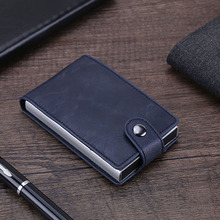 2019 New Men Credit Card Holder Drawing Type PU Leather With RFID Case Fashion Mini Wallet Coin Pocket