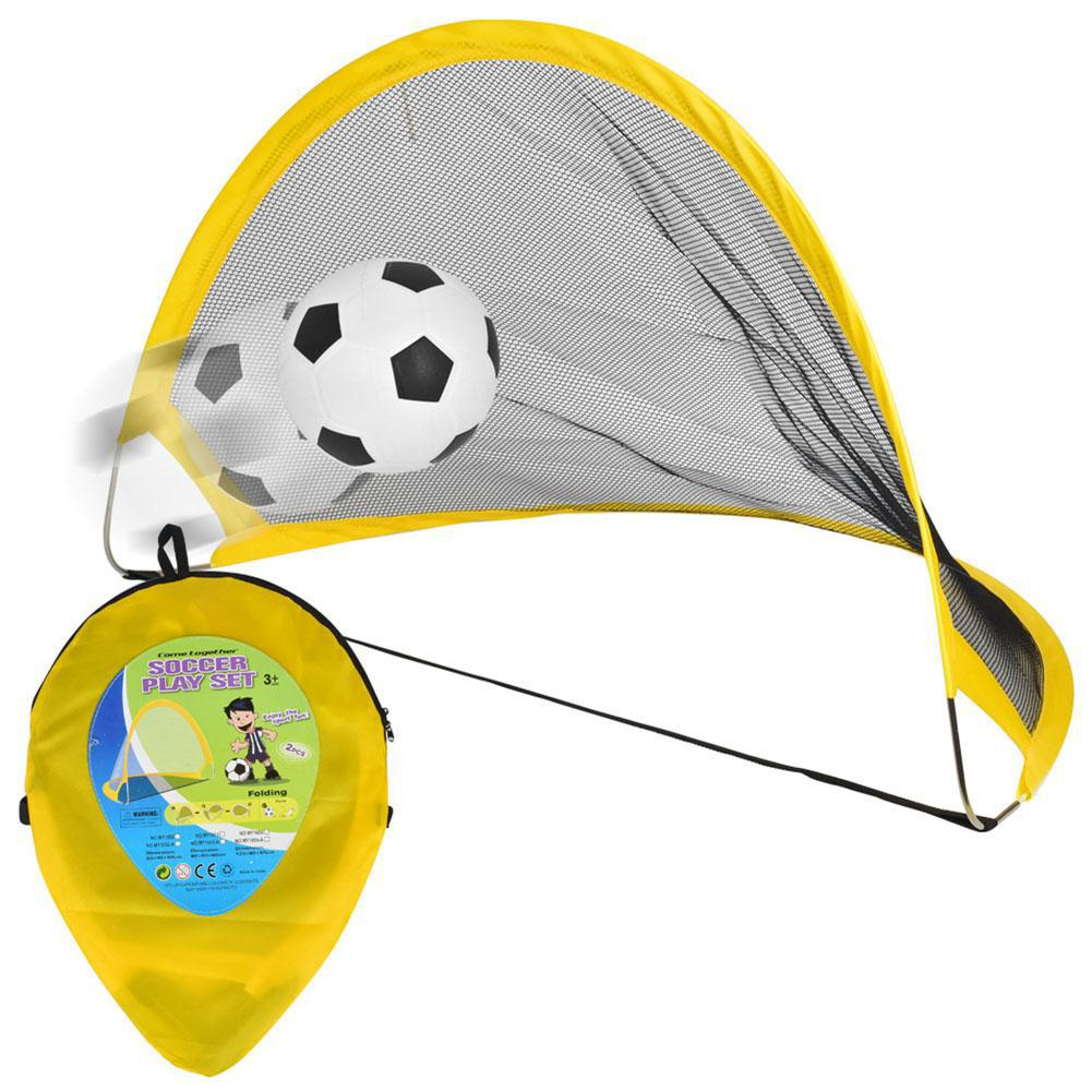 LeadingStar 65cm Children Outdoor Soccer Training Portable Folding Net Goal + Footbal + Accessory ZK30