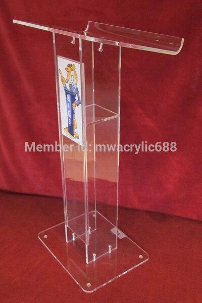 Free Shipping Cheap Beautiful Simple Elegant Acrylic Podium Pulpit Lectern Podium