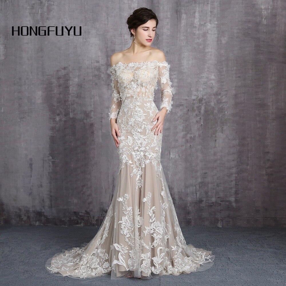 Ever Pretty Dress Boat Neck Long Sleeves Wedding Dresses