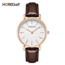 Простой часы лучший бренд моды мужской кожаный смотреть Для женщин высокое качество кварцевые Повседневное наручные часы подарок для пары Женские часы