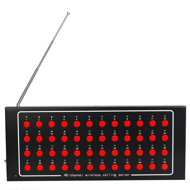 48 Canal Receptor Pager Sem Fio Chamada Garçom Sistema de Chamada para o Hospital Enfermeira com Voz Relatando Restaurantes 433 MHz F4401A