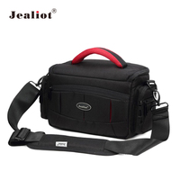 Jealiot DSLR Camera Bag Fashion Nylon Shoulder Bag Camera Case For Canon Nikon Sony Lens Pouch Bag Waterproof Photography Photo