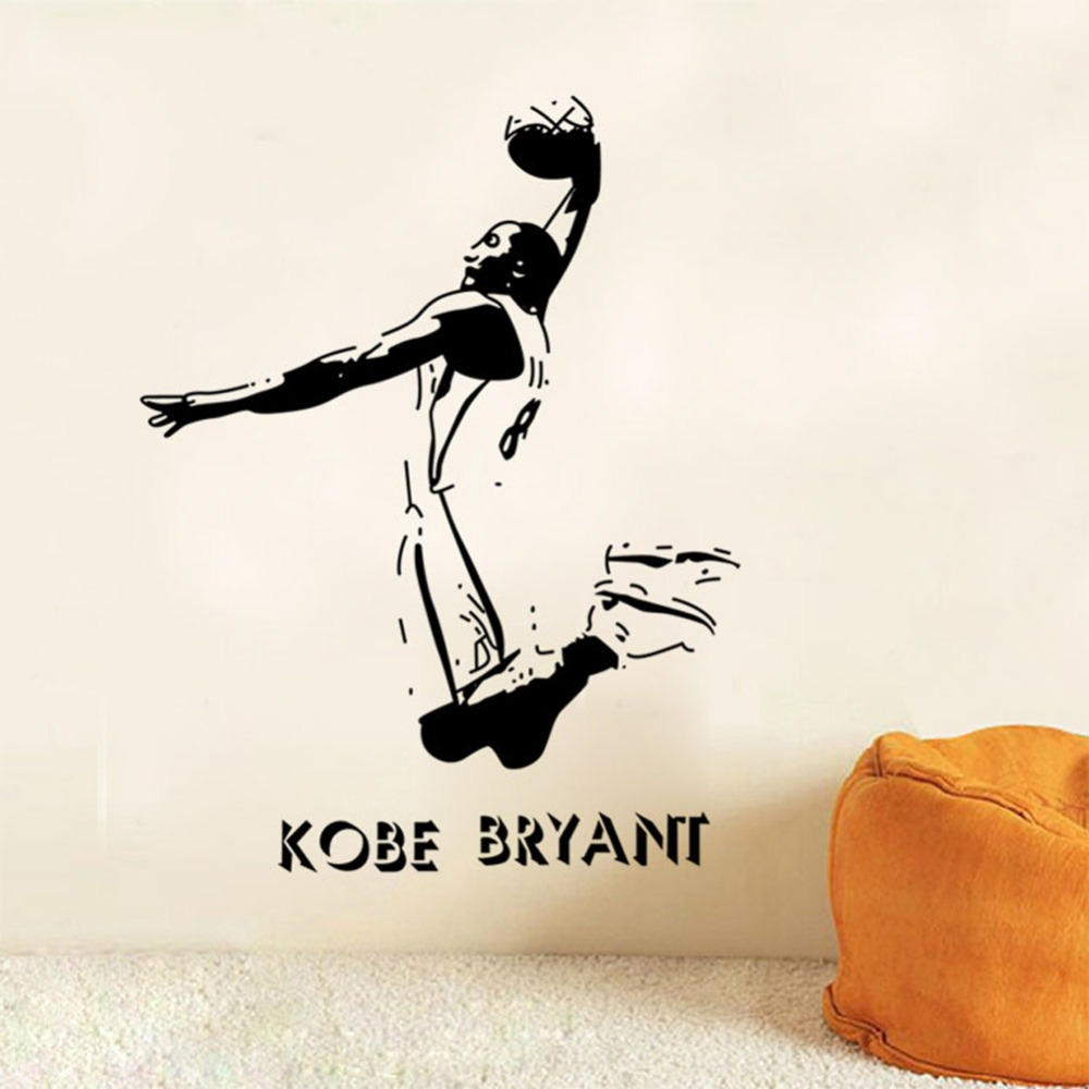 online get cheap kobe bryant wall decal aliexpress com alibaba vinyl removable sports wall stickers nba basketball player lakers kobe bryant poster wall stickers home decor