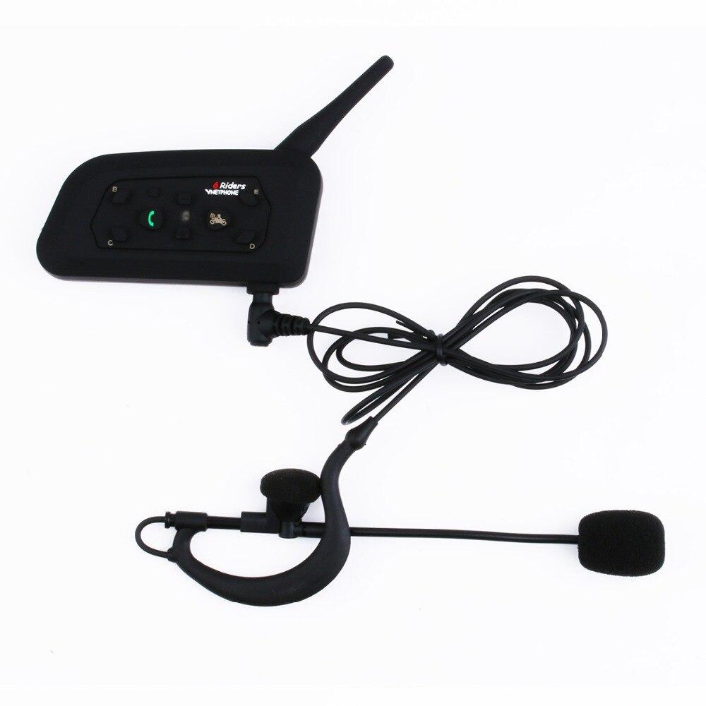 V6 1200M Motorcycle Helmet Headsets Intercom For 6 Riders Intercomunicador Moto Wireless Bluetooth Interphone Walkie Talkie
