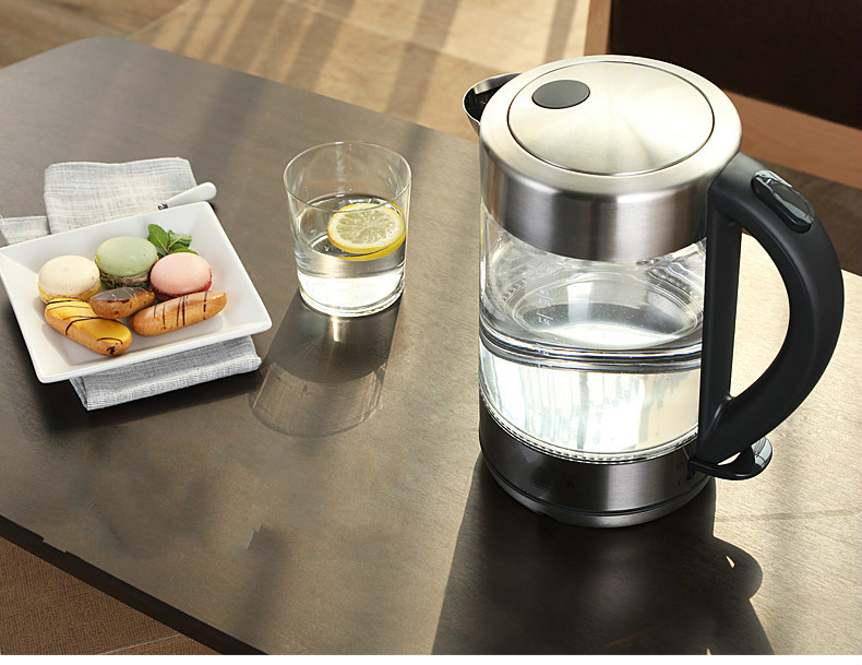 glass electric kettle is heated by 304 stainless steel household Overheat Protection