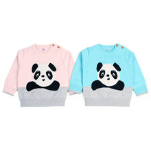 Baby Girls Sweaters Autumn Warm Pullovers Newborn Clothing Outfits Kids Knitted Cartoon Panda Sweater Winter Baby Boy Clothes(China)