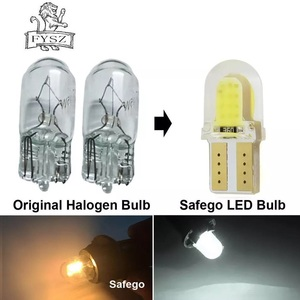 Image 4 - 10 adet T10 LED W5W COB 194 168 801 SMD park ampul oto kama gümrükleme lambası CANBUS silika parlak beyaz lisans ampuller