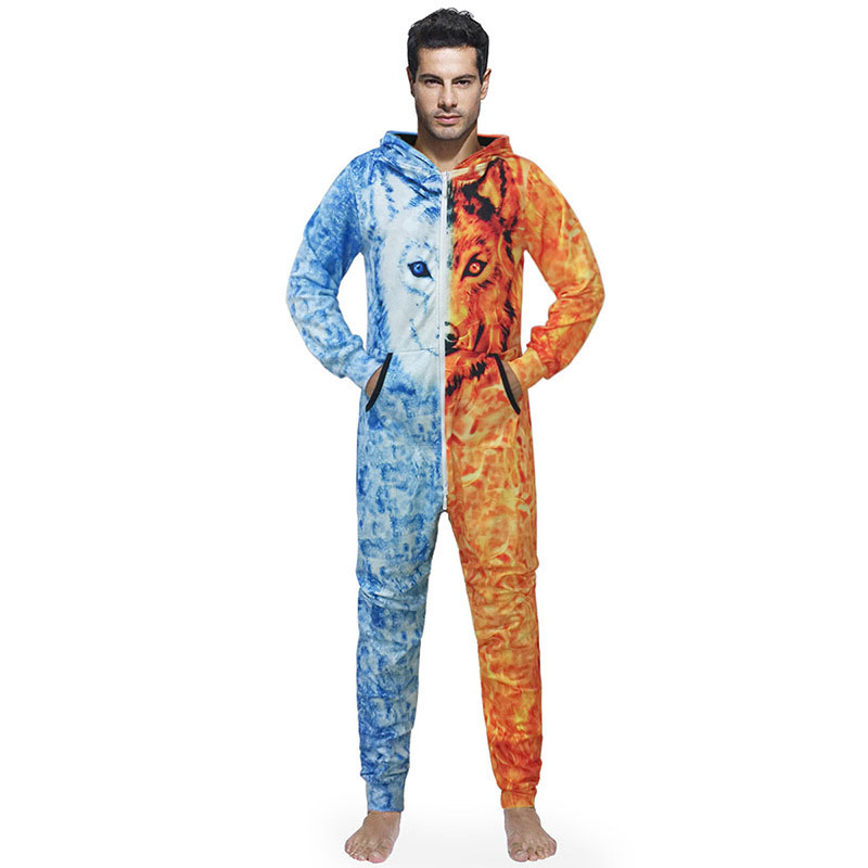 Centuryestar Tmall Quality Men 3D Printed Pijama Hombre Invierno One Piece Pajamas Onesie Adults Combinaison Pyjama Homme Hiver