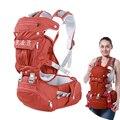 Nuevo Diseño puro algodón porta bebé/bebés carrier mochila niño bebé mochila con desmontable gran espacio bolsa de mamá