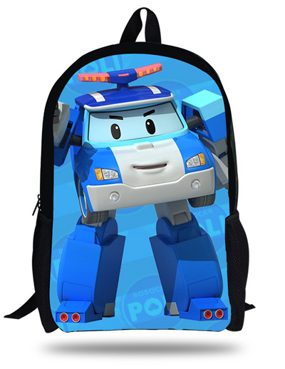 344a44186b 16-inch Children Cartoon Bag Robocar Poli School Bags For Teenagers Mochila  Robocar Poli Backpack Kids Boys Autobots Book Bag