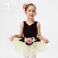 Kids Dancewear Dance Tulle Dress Suspender Girl Ballet Dress Gymnastics Dress Ballet Tutus Girl Dance Dress