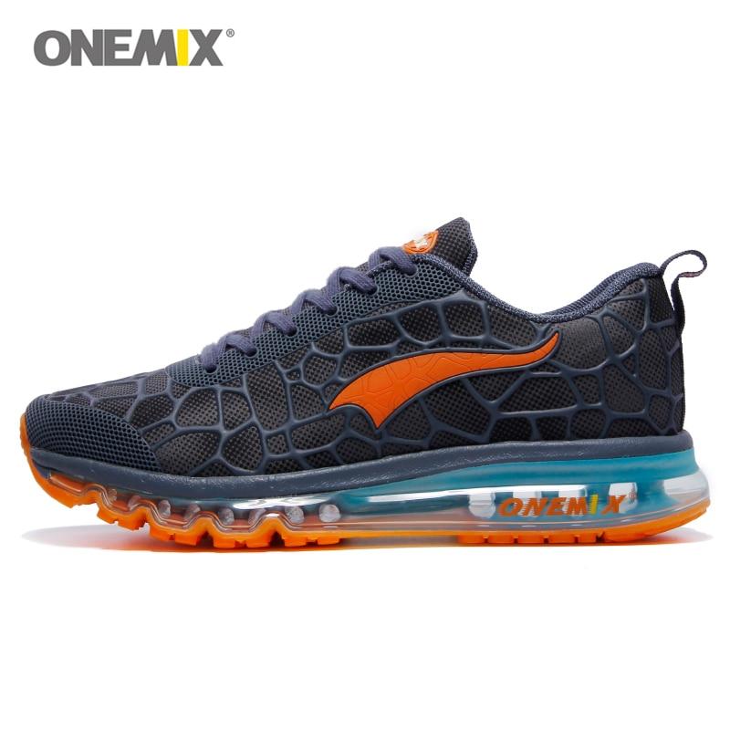 Onemix Hommes Sport Chaussures de Course Sneaker Coussin Max Chaussures  Noir Athletic Trainers Homme Formation Coureur