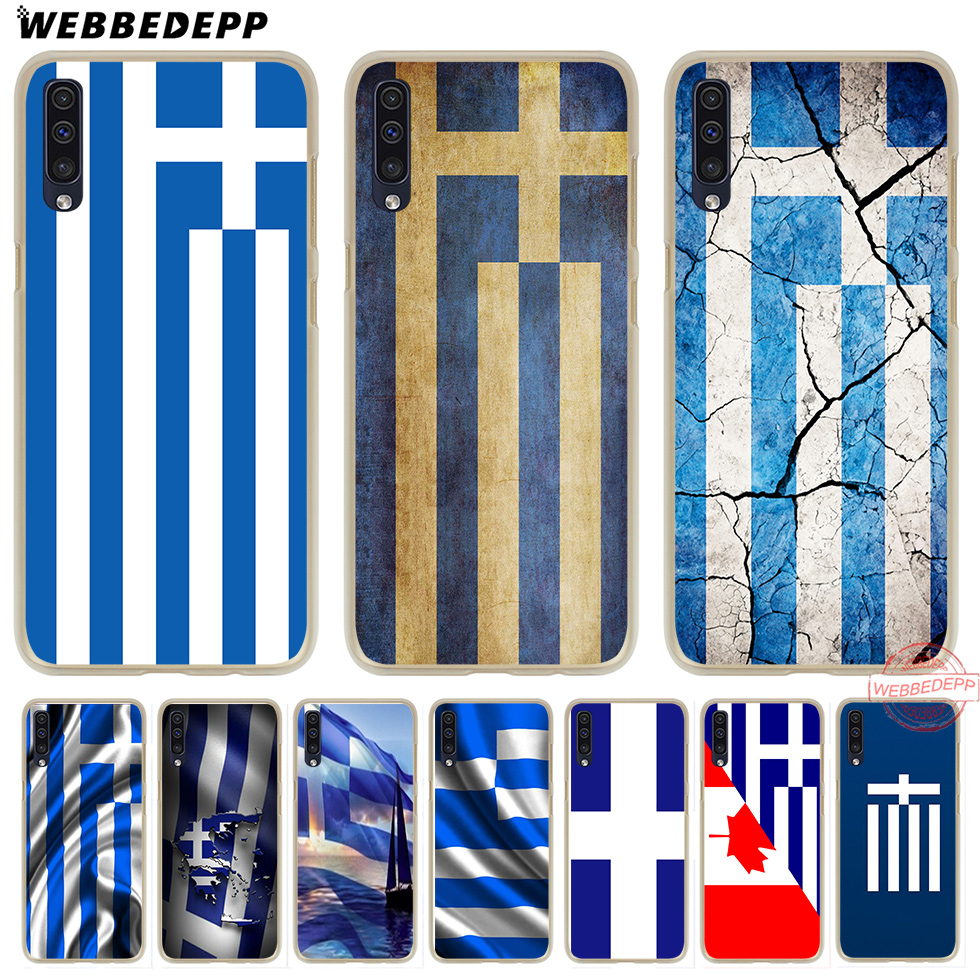 WEBBEDEPP Greek Greece <font><b>Flag</b></font> Hard Case for <font><b>Samsung</b></font> A50 <font><b>A10s</b></font> A20s A30s A40s A50s A60 A70 M10 M20 M30 M40 image