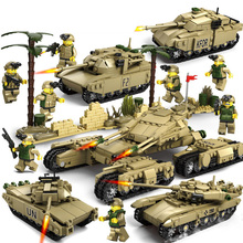 4 In 1 Tank Military Assembled Small Particles Building Blocks Children Educational Assembly Boy Toys Model Kit New Legoings E05 loz diamond blocks small particles mini building blocks bagged animal series children s educational assembled toys