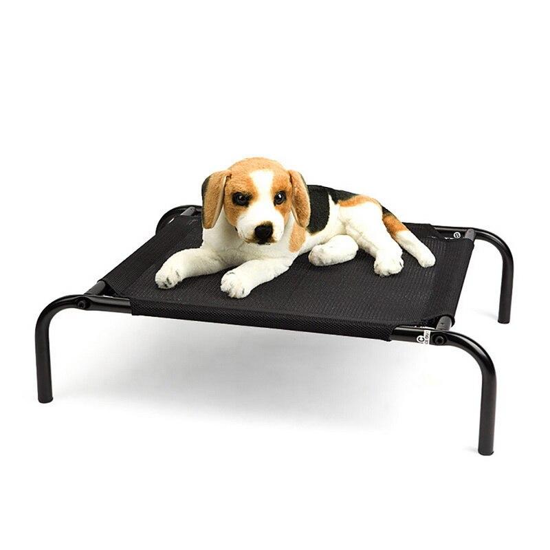 100% Kwaliteit Huisdier Stalen Frame Bed Zomer Koeling Hond Bed Hosue Staal Huisdier Huisdier Mesh Ademende Bedden Voor Honden Slapen Kennel Voor Katten Huisdier Gadget