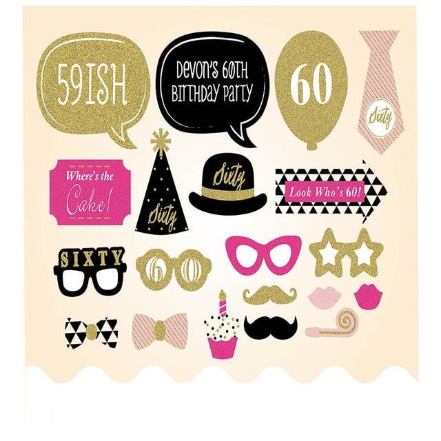 20 Stuks 60th Gelukkig Verjaardagsfeestje Decoraties Levert Grappige