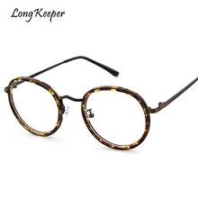 1a25b266fe3 Long Keeper Men Woman Ronud Alloy Eye Glasses 2018 Most Frame for Glasses  Frame