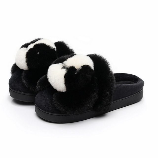 c1d7a3a7bc53 Soft Plush Slipper Women Cotton Lovers Home Slippers Cute Cartoon Animal  Dog Slippers Winter Warm Shoes Indoor Shoes Soft Sole