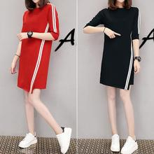 2019 New Yfashion Women Casual Summer Half-length Sleeves Asymmetric Dress