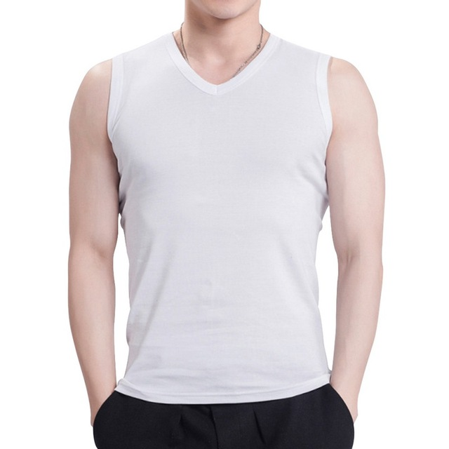 2018 Summer clothing men's fitness men's vest sleeveless vest solid color T-shirt YJ05 2