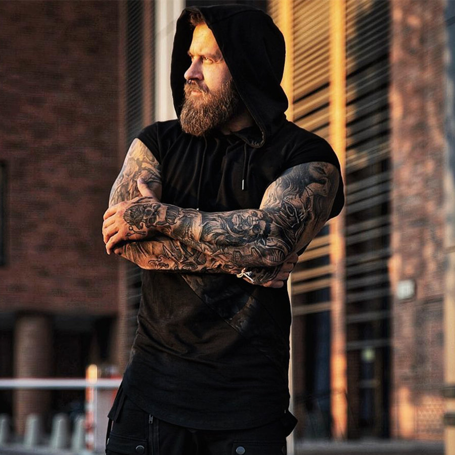 Image 2 - 2019 New Brand Stretchy Sleeveless Shirt Casual Fashion Hooded Gyms Tank Top Men bodybuilding Fitness Clothing-in Tank Tops from Men's Clothing