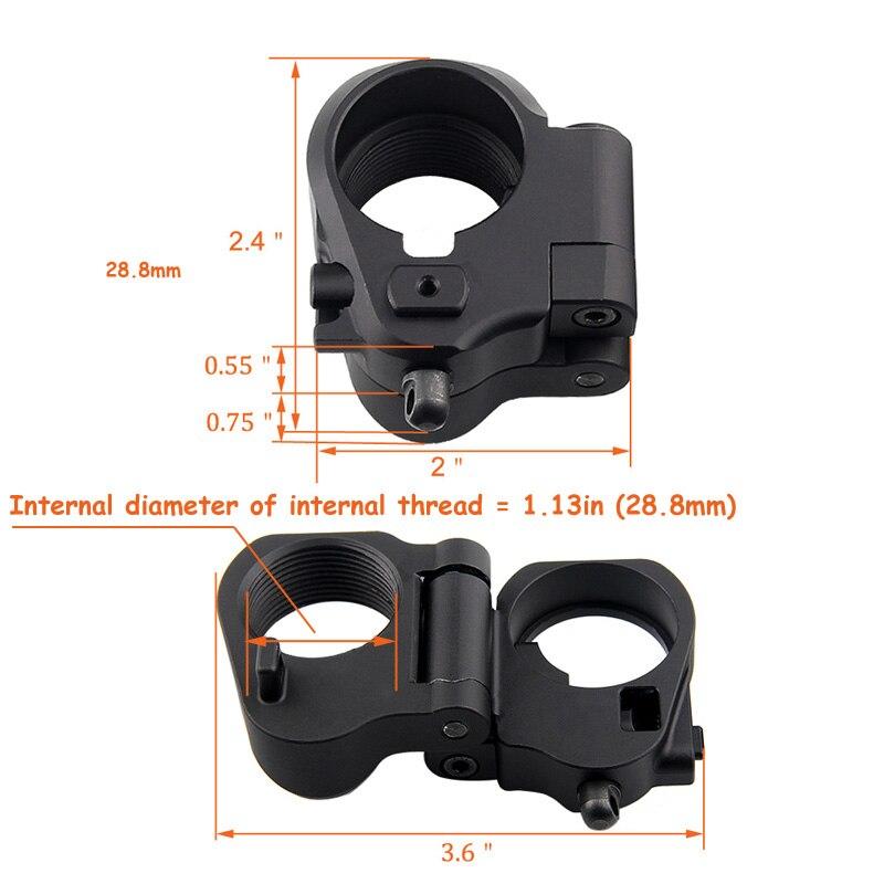 Tactique AR pliant Stock adaptateur Airsoft accessoire de chasse pour M16/M4 SR25 série GBB (AEG) 2-0042 - 4