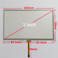 Free Shipping New 7 Inches Touch Screen Digitizer Panel 165mm 100mm Resistance Touchscreen For Car DVD