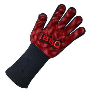 Image 4 - Перчатки для барбекю, термостойкие силиконовые варежки для гриля и выпечки, с изоляцией, аксессуары для барбекю