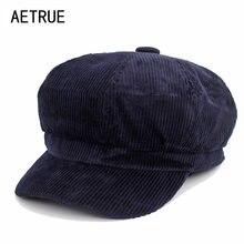 AETRUE moda mujeres Octagonal sombreros tapa octogonal femenino sombreros  para las mujeres en blanco PANA Boina 06e2ff0f8d8