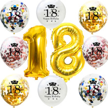 10pcs Creative 12 inch 1pcs Colorful Sequins Confetti Balloon Wedding Decoration Birthday Party Supplies 18