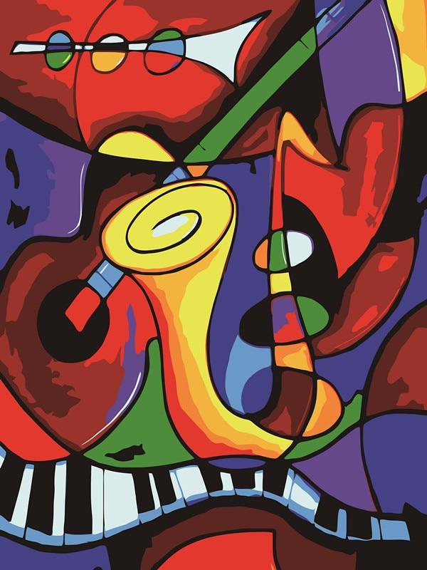 Цифровая живопись по номерам diy украшения дома краска на ...