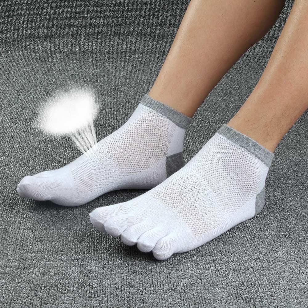 5pairs/lot Men Socks Boys Cotton Finger Breathable Five Toe Socks Cotton Pure Sock Men's Cotton Short  Socks